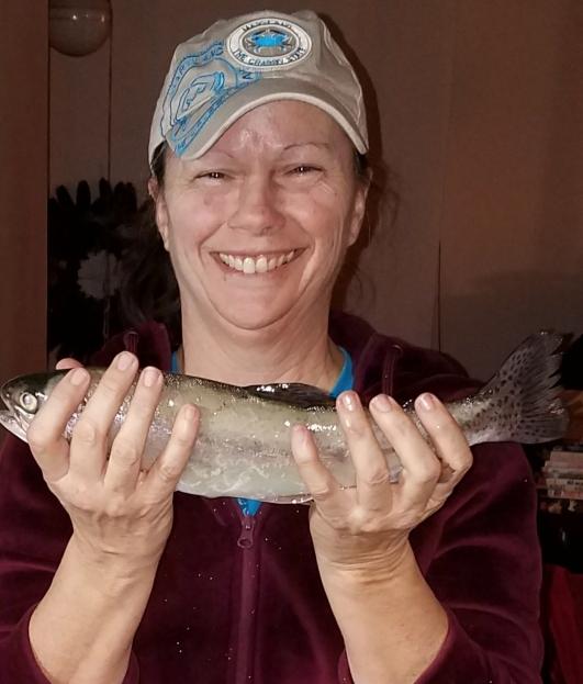 A photo of Brenda Eberwein's catch