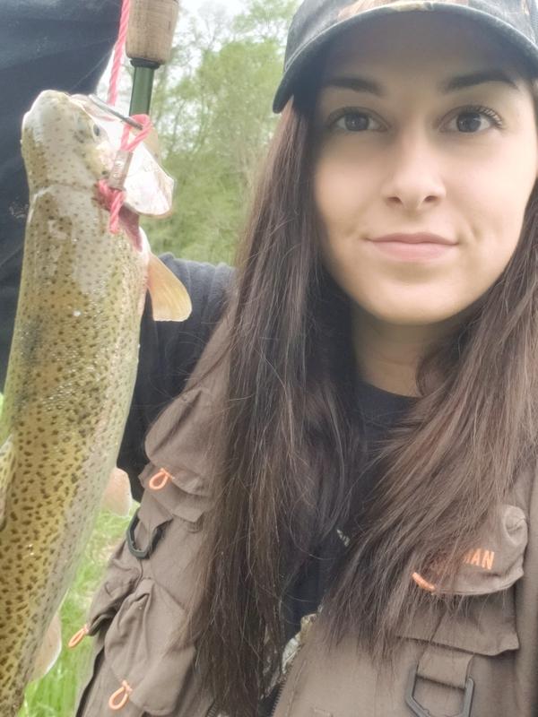 A photo of Jess Worden's catch