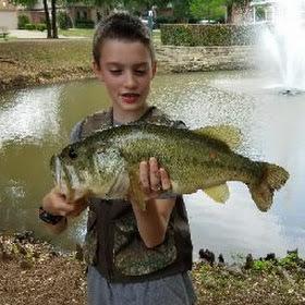 A photo of Thomas Pate's catch