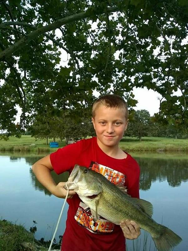 A photo of Noah Bray's catch