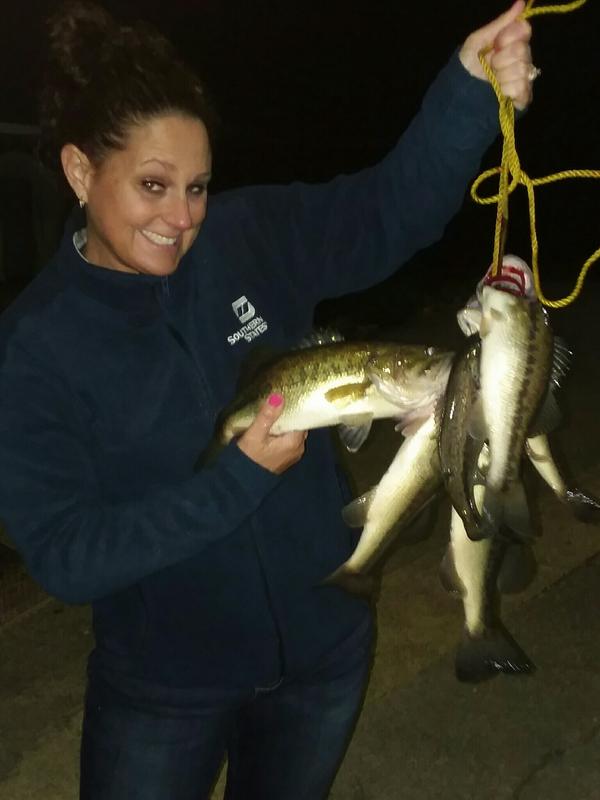 A photo of Joseph Maynard's catch