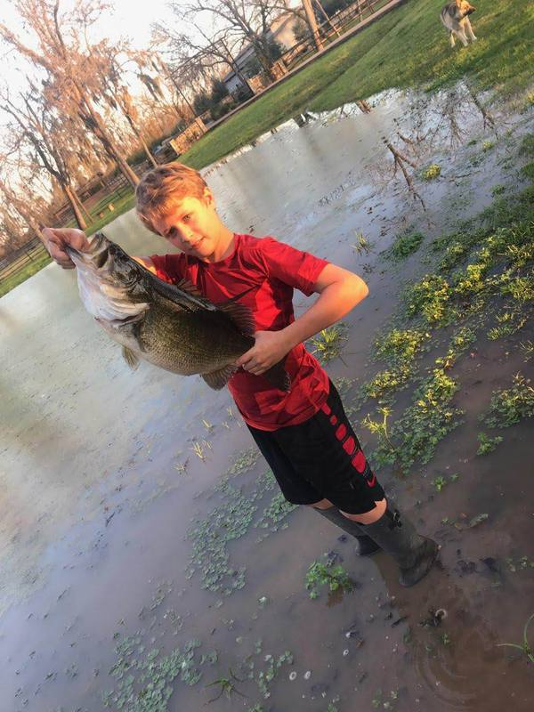 A photo of Braden Box's catch
