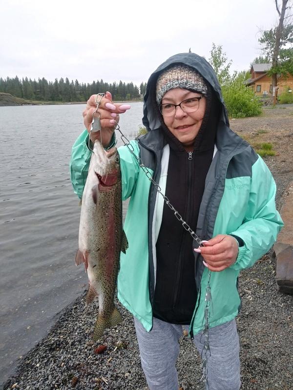 A photo of Jennifer Miller's catch