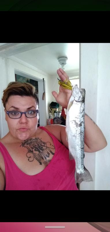 A photo of Liz Barker's catch