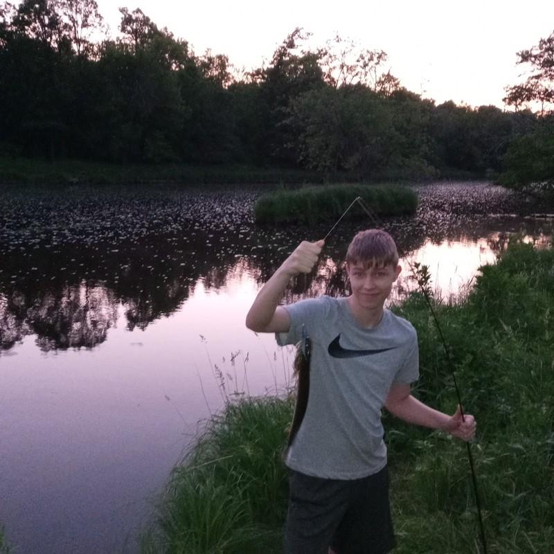 A photo of Geno Pyka's catch