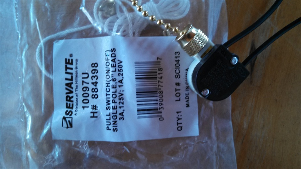How To Add A Pull Chain Switch To A Light Fixture
