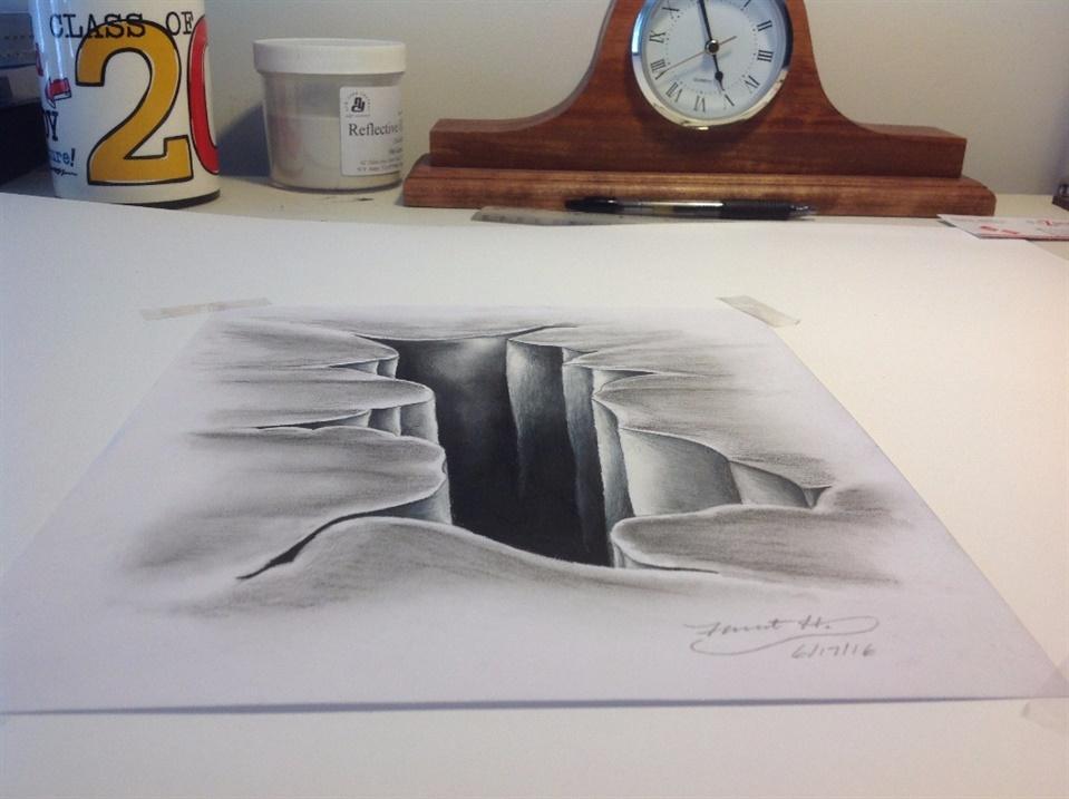Amazing 3D sinkhole drawings