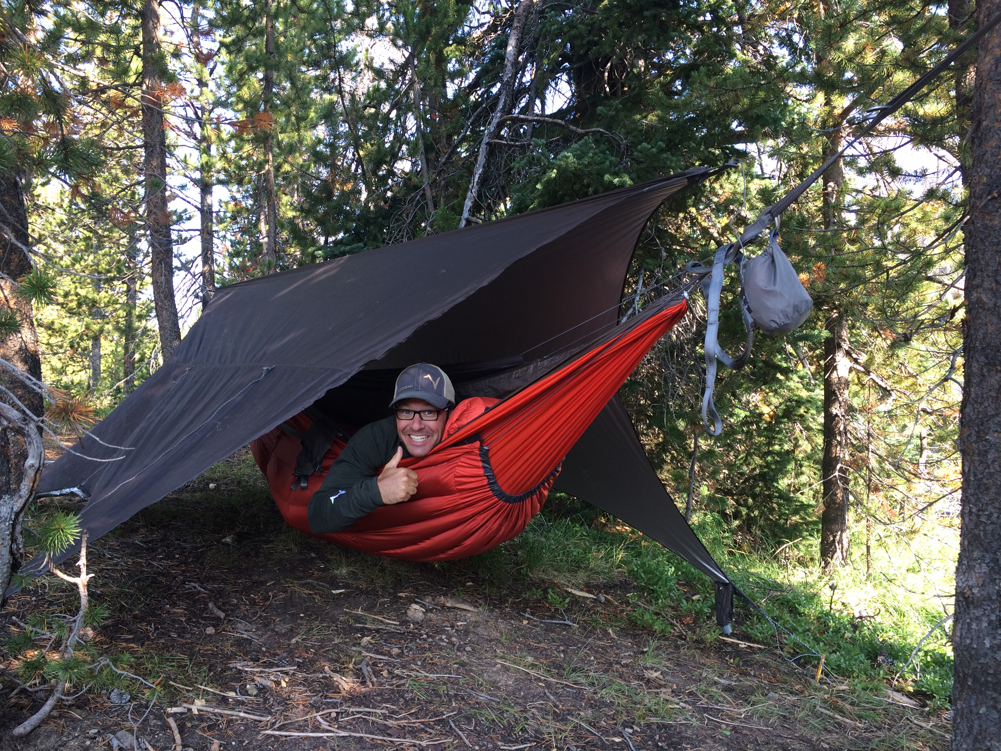under-quilt in hammock