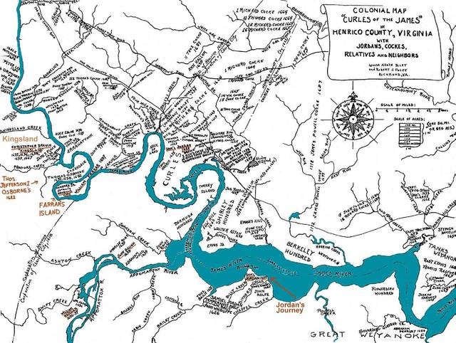 Colonizing Virginia   Curles of the James River
