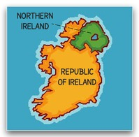 Map Of Republic Of Ireland Showing Counties.Counties Of Northern Ireland United Kingdom