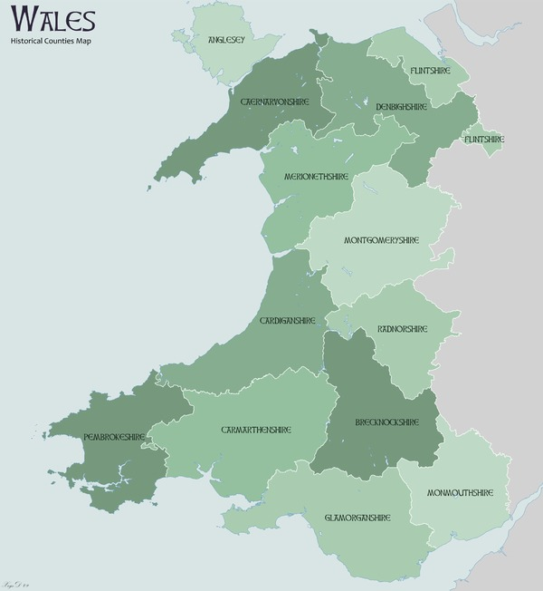 Map Of England And Wales Showing Counties.Counties Of Wales United Kingdom