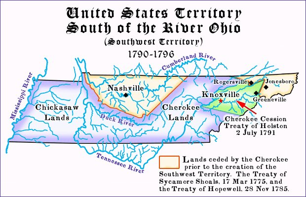 Southwestern Ohio Map.Pioneers Of The Old Southwest Territory Tennessee 1791 1796