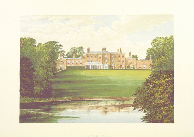 1828 Antique Small Georgian Print ~ Eaton Hall ~ Cheshire Art Prints