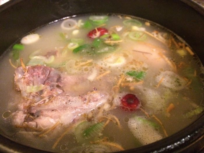 Ginseng soup, korean
