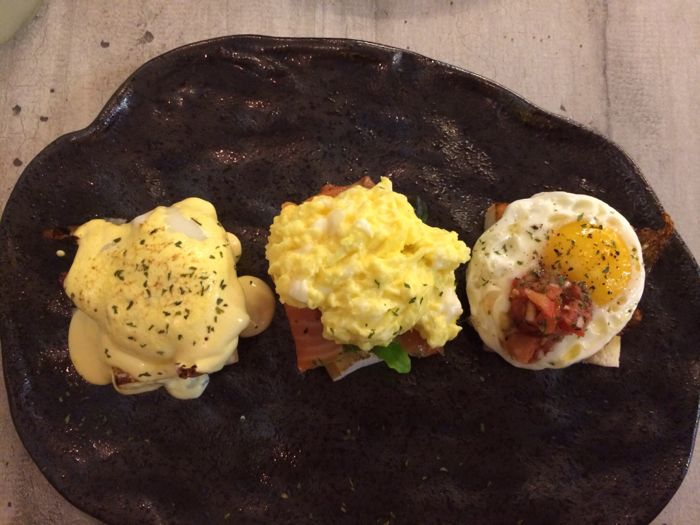 Eggs three ways