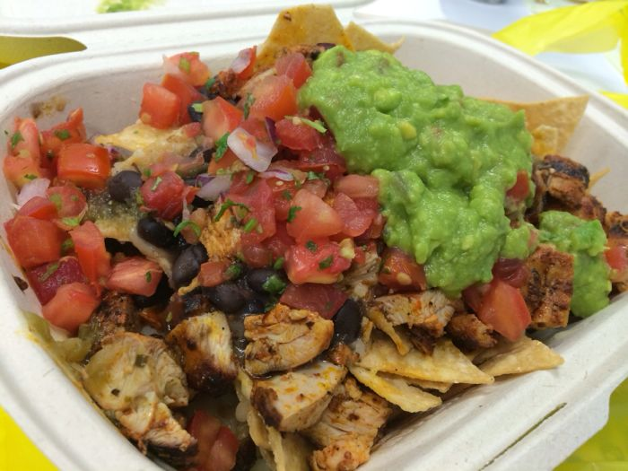 Nacho with spicy grilled chicken