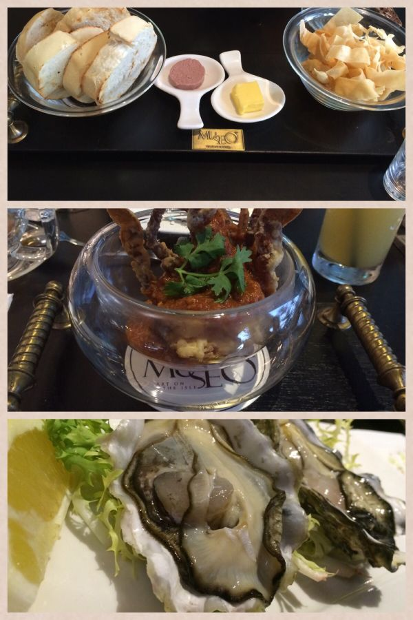 Soft shell crabs and fresh oysters