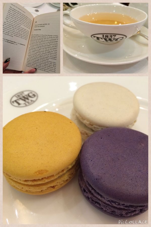Twg tea and macaroons