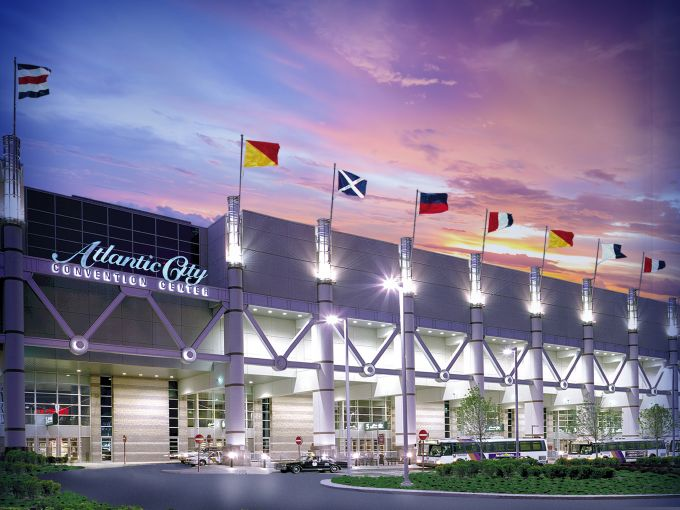 Atlantic City, Convention Center, destination, exterior, façade, meetings, trade shows, conferences, conventions