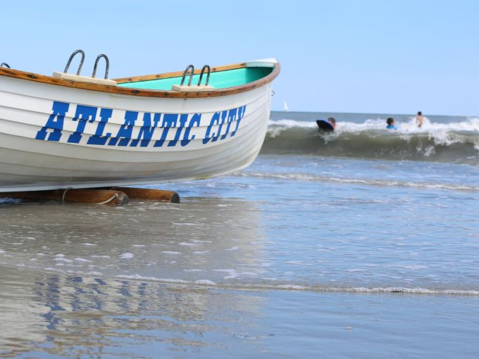 Atlantic City, Atlantic City beach, Atlantic Ocean, Boardwalk, Rolling Chairs, sunset, skyline, crowd, famous, historic, beach, sand, lifeguard, boat
