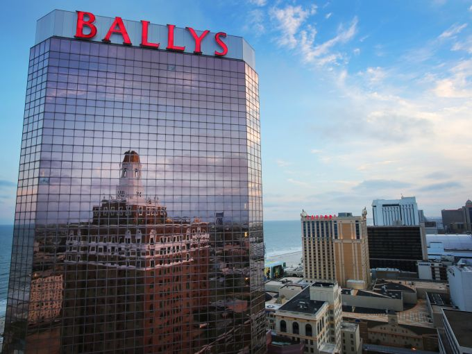 Bally's, Exterior, Casino, Atlantic City, Caesars Entertainment, skyline, sky, glass, mirror