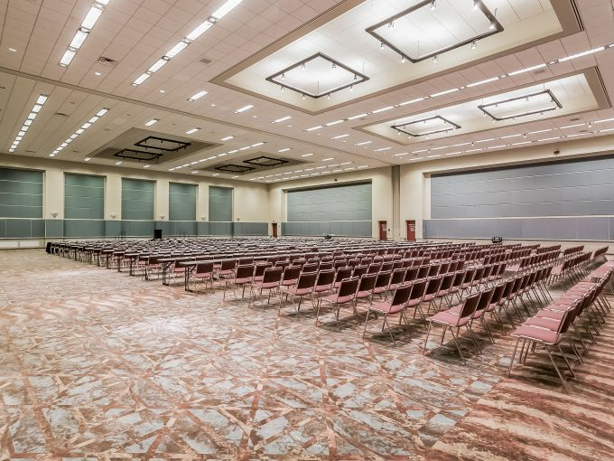 Atlantic City, Convention Center, meetings, trade shows, conferences, conventions, expos, interior, events, keynote session, set-up, space, trade show floor, booth, connect, networking, meeting room, technology, seating, tables, exhibit hall