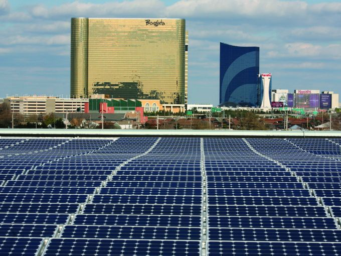 Atlantic City, Convention Center, destination, exterior, rooftop, solar panels, green, going green, conserve, energy, recyclable, loading docks, meetings, trade shows, conferences, conventions, expos, casinos