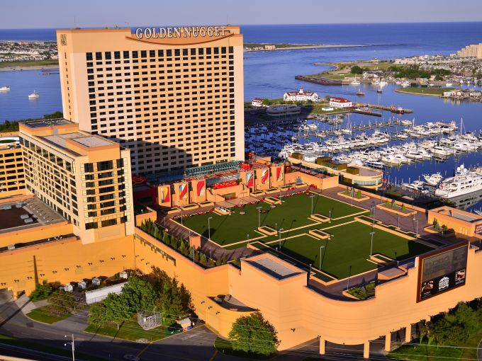 Golden Nugget, Casino, Aerial,  Exterior, Marina District, Atlantic City