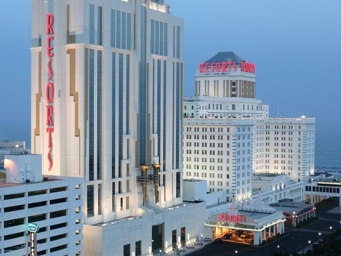 Resorts, Casino, Exterior, Dusk, Towers, Hotel