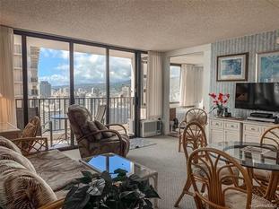 201 Ohua Avenue Waikiki Banyan Condo For Sale - living area