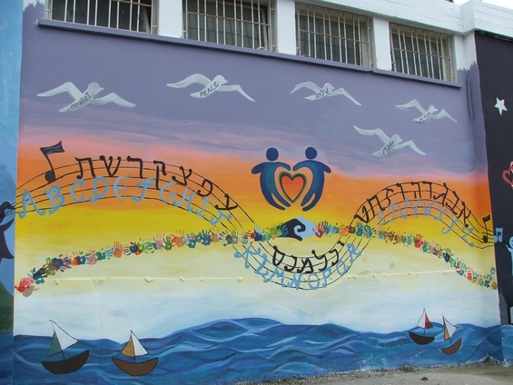 This mural was generously funded by Combined Jewish Philanthropies of Greater Boston