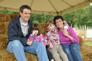 Murphy family at Gateways' apple picking event