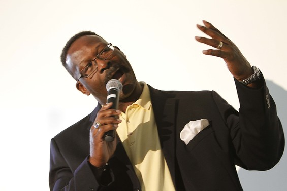 Andre Tippet speaking at the Whittier Street Men's Health Summit