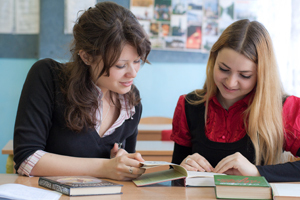 Image of two women studying copyright 2011 Kostyantin Rudeshko/JFNA. All other rights reserved.