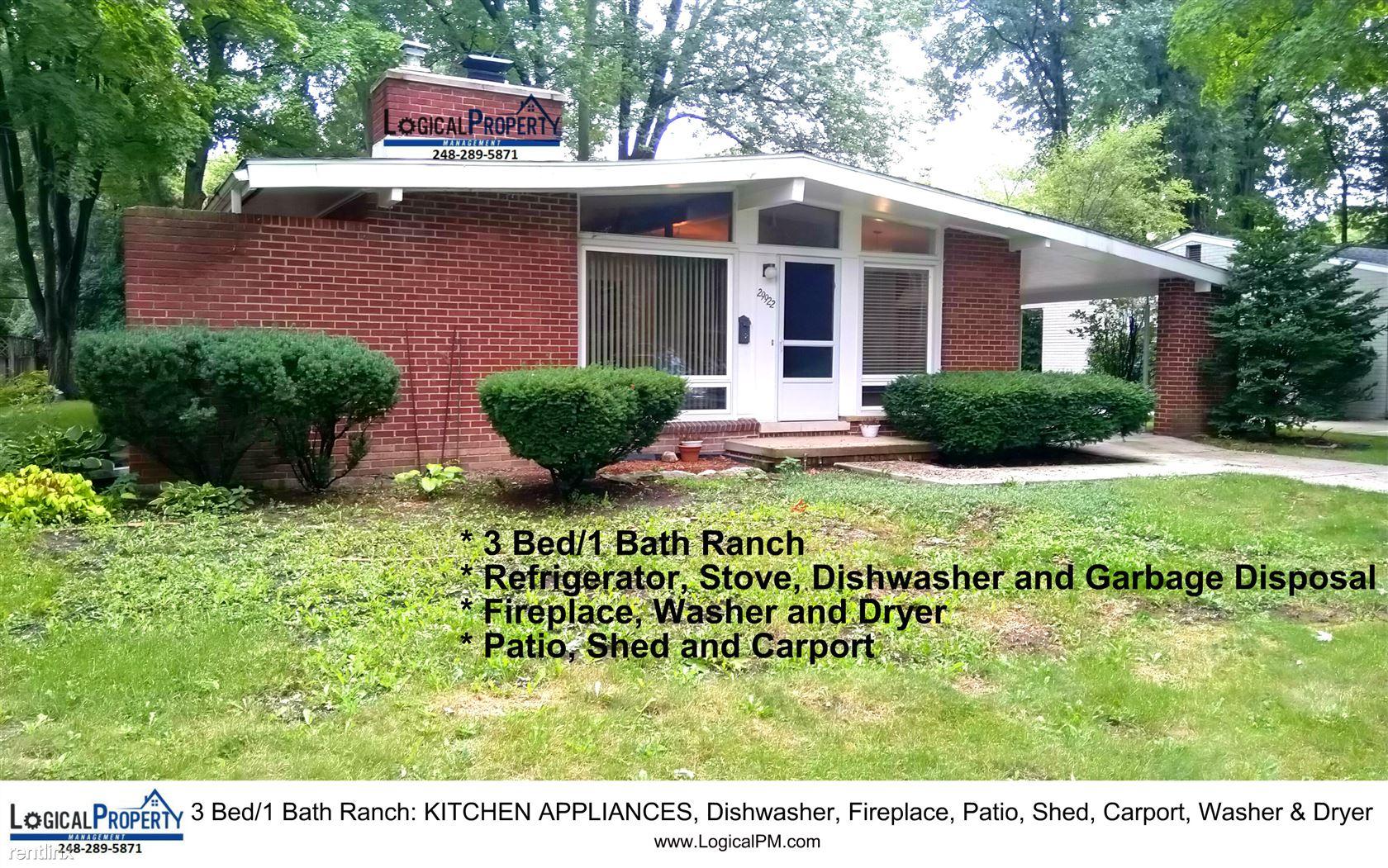 29922 Pleasant Trl, Southfield, MI - $1,375