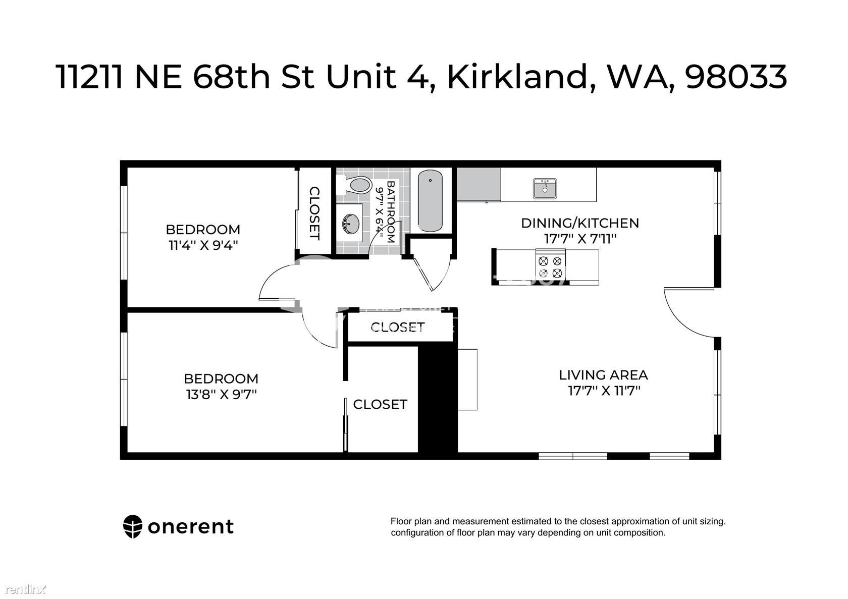 11211 NE 68th Street Unit 4, Kirkland, WA - $1,950