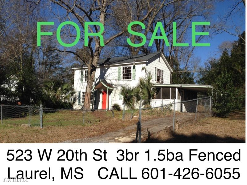 523 W 20th St Rent To Own, Laurel, MS - $895 USD/ month