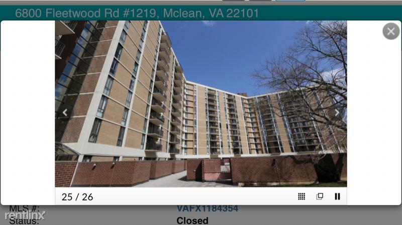 6800 Fleetwood Road, McLean, VA - $1,875 USD/ month