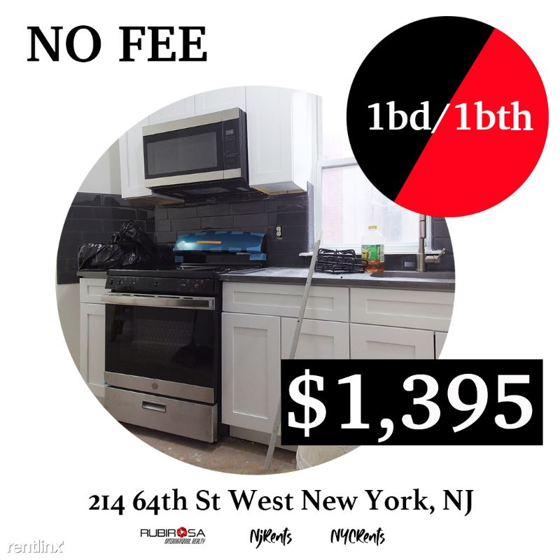 214 64  St 4, West New York, NY - $1,395 USD/ month