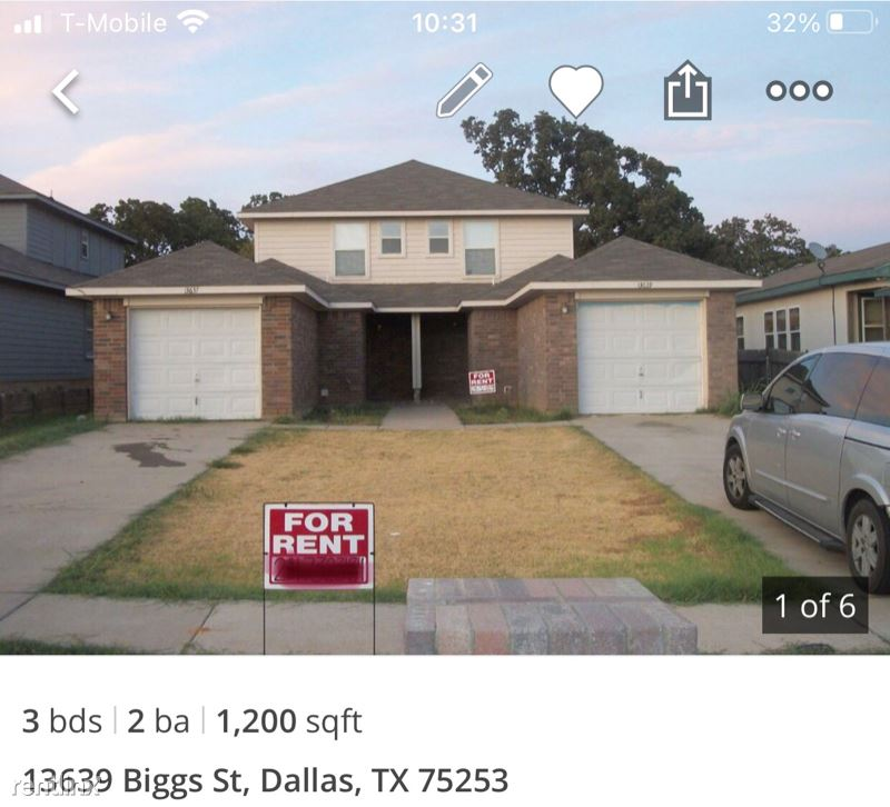 13639 Biggs St, Dallas, TX - $1,300 USD/ month
