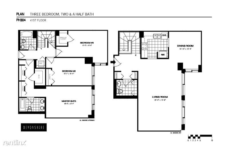 1 Devonshire Place 304, Boston, MA - 8,559 USD/ month