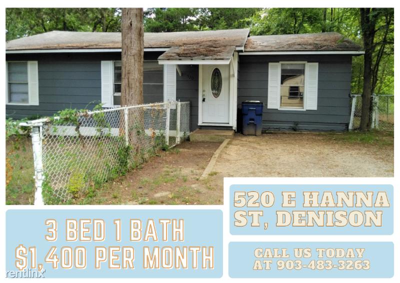 520 E Hanna St, Denison, TX - 1,400 USD/ month