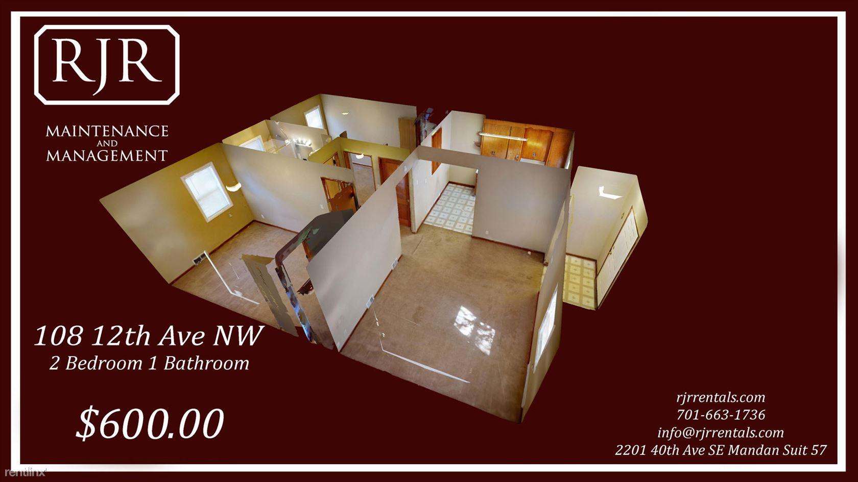108 12th Ave NW, Mandan, ND - $515