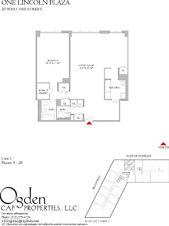 20 W 64th St #22L, New York, NY - $6,135 USD/ month