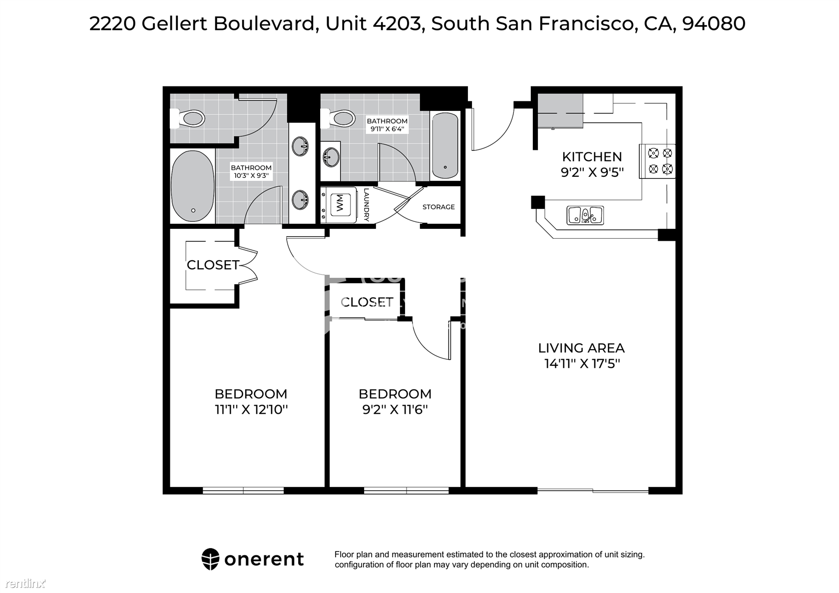 2220 Gellert Boulevard Unit 4203, South San Francisco, CA - $3,150