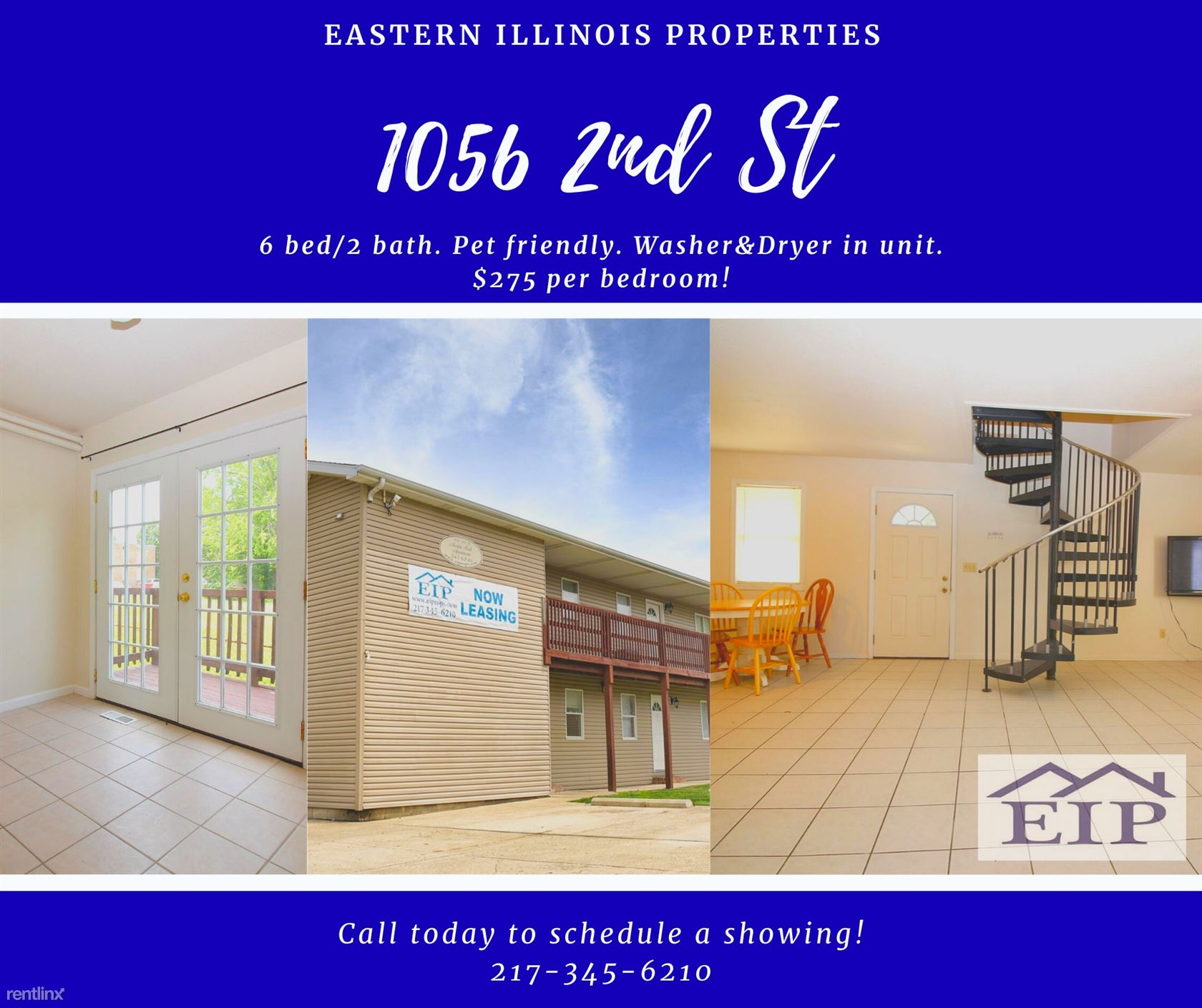 1056 2nd St, Charleston, IL - $375 USD/ month