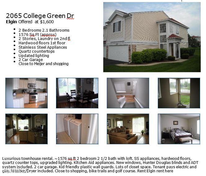 2065 COLLEGE GREEN DR, Elgin, IL - $1,750