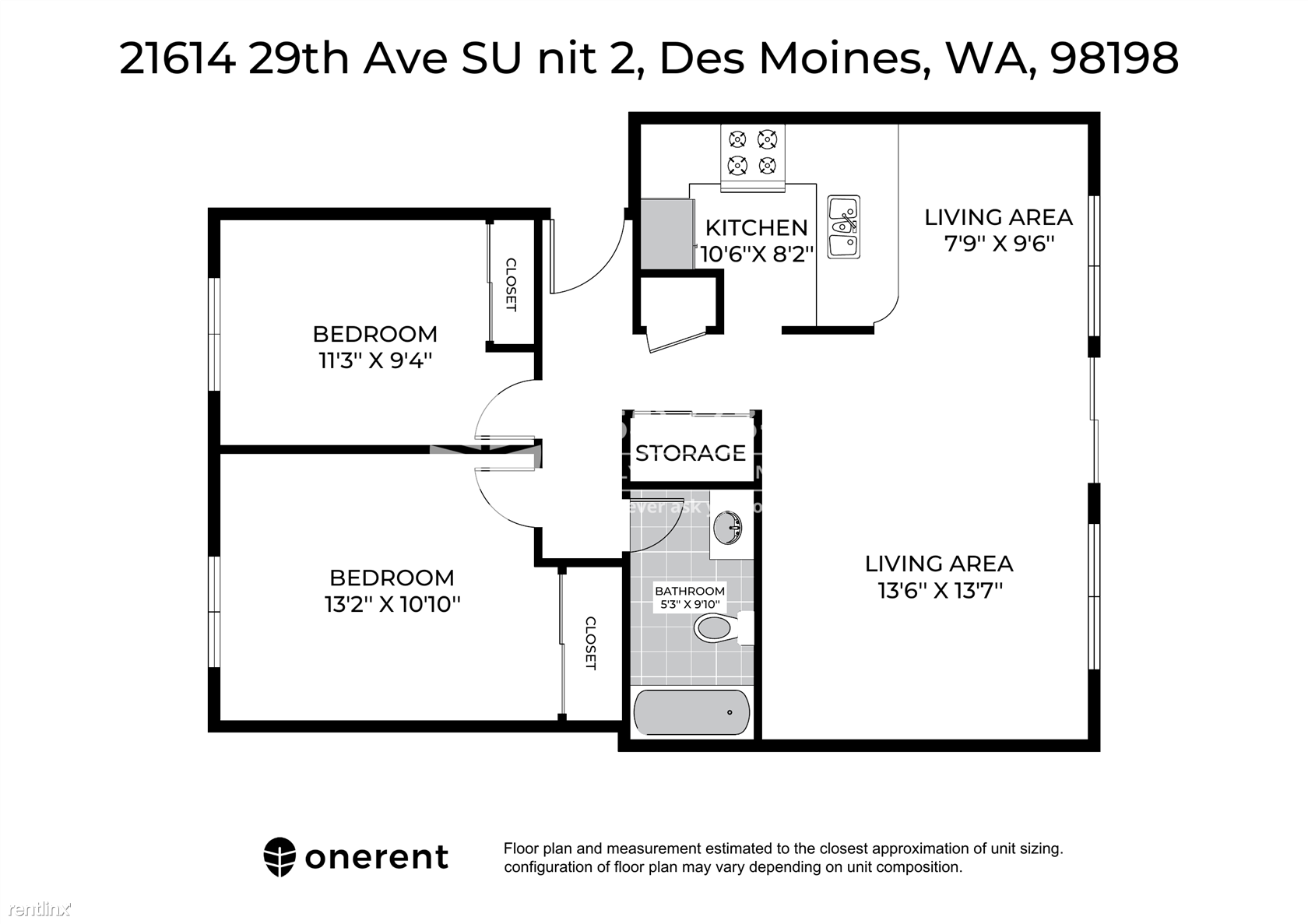 21614 29th Ave S Unit 2, Des Moines, WA - $1,699