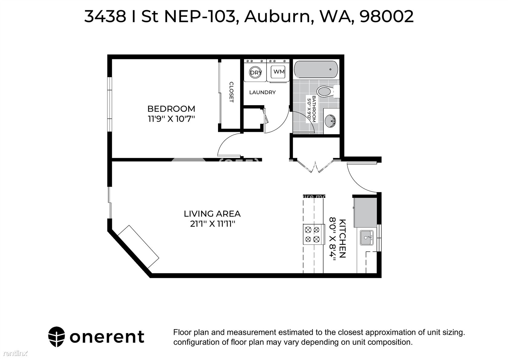 3438 I Street Northeast Unit P103, Auburn, WA - $1,400