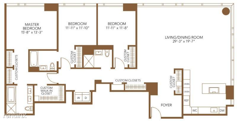 111 W Wacker Dr Penthouse, Chicago, IL - $12,605